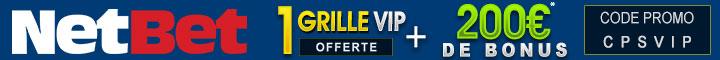 Profitez du bonus de 200€ + 1 grille VIP offerte