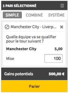 Profitez du bonus Winamax en misant sur la qualification de Manchester City