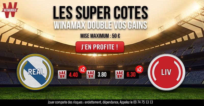 Winamax double les cotes pour la finale de la Ligue des Champions