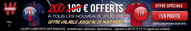 Bonus 200€ sur Winamax